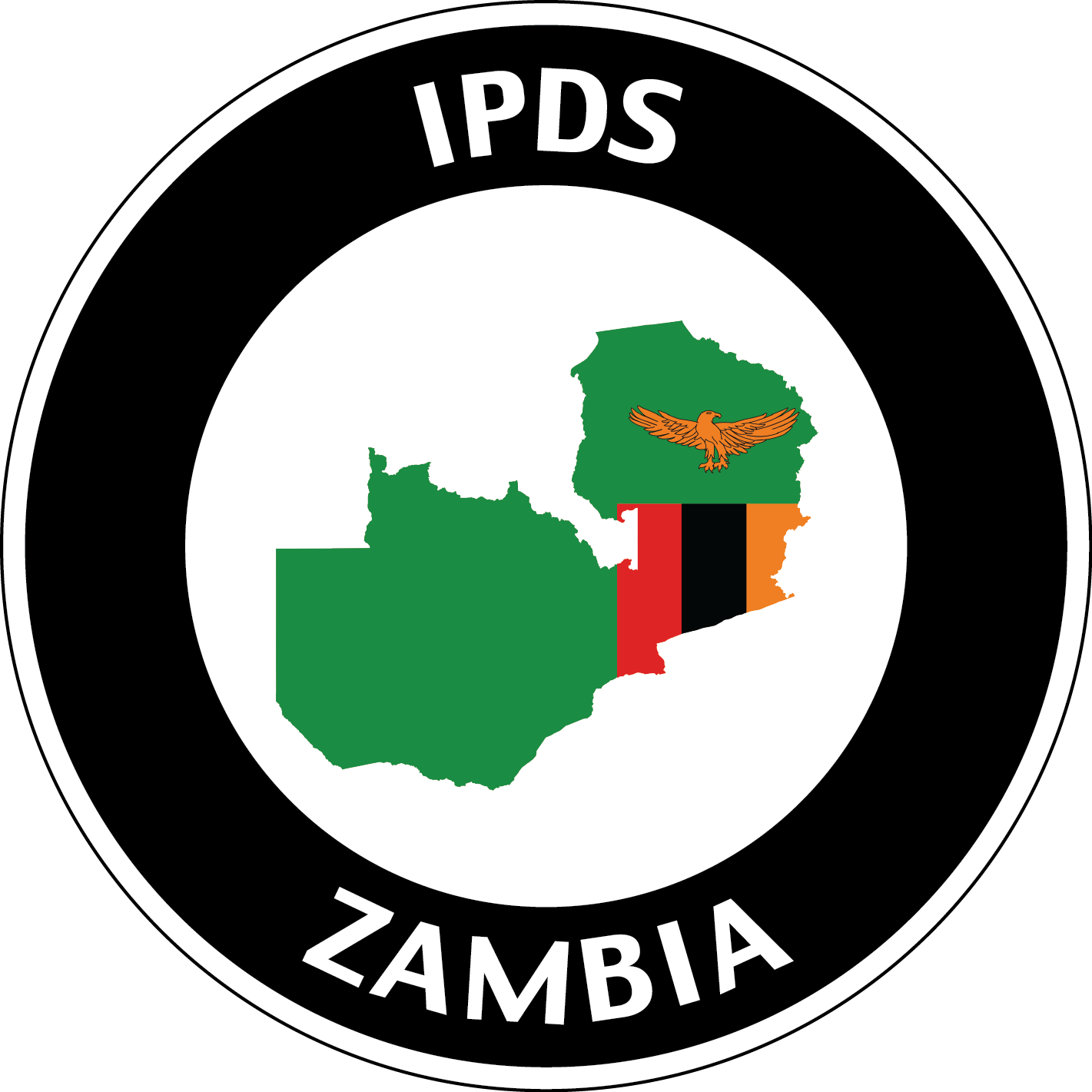 Welcome to Zambia logo with country and flag